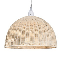 Litecraft - Wicker Dome Easy to Fit Ceiling Light Shade