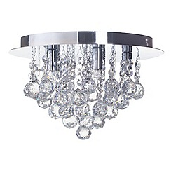Litecraft - G9 Galaxy Flush Ceiling Light - Chrome
