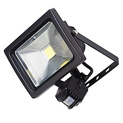 Litecraft - Outdoor 20 Watt LED Flood Light with PIR Security Sensor - Black