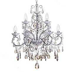 Litecraft - Vara 9 light Chrome bathroom chandelier with Champagne crystals