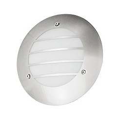 Litecraft - Circular outdoor 1 light wall light in Stainless steel