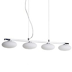 Litecraft - Arctic 4 light ceiling pendant bar in Chrome