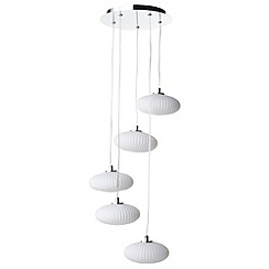 Litecraft - Arctic 5 light Chrome stepped ceiling pendant