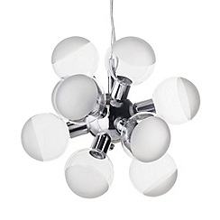 Litecraft - Glow 12 light led ceiling pendant in Chrome