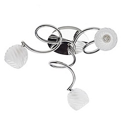 Litecraft - Spyral 3 light semi flush Chrome ceiling light