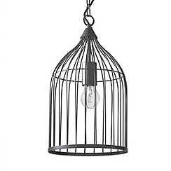 Litecraft - Haddon 1 Light Brown cage pendant
