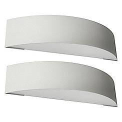 Litecraft - Philips Pack of 2 Patch Outdoor Curved Wall Light - Grey
