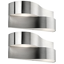 Litecraft - Philips Pack of 2 Oriole Outdoor Wall Light - Stainless Steel