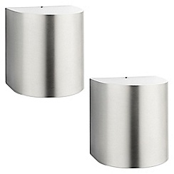 Litecraft - Philips Pack of 2 Parrot Outdoor LED Wall Light - Stainless Steel