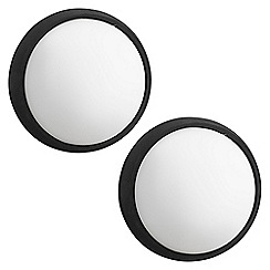 Litecraft - Philips Pack of 2 Eagle Circular Outdoor LED Wall Light - White & Black