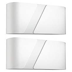 Litecraft - Philips Pack of 2 Gainsboro Wall Light - White