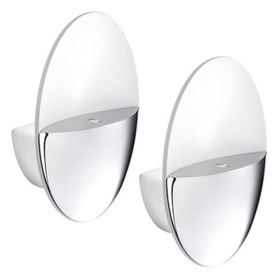 Litecraft Philips Pack of 2 Geos LED Ledino Uplighter Wall
