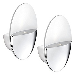 Litecraft - Philips Pack of 2 Geos LED Ledino Uplighter Wall Light - Chrome