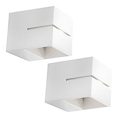 Litecraft - Philips Pack of 2 Innoa LED Ledino Up and Down Wall Light - White
