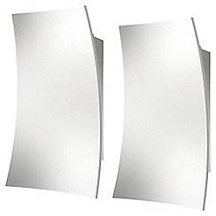 Litecraft - Philips Pack of 2 InStyle Feuille LED Curved Wall Light - White