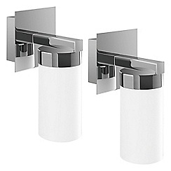 Litecraft - Philips Pack of 2 Aloe Bathroom Wall Light - Polished Chrome