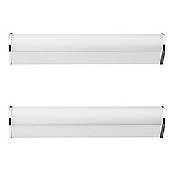 Litecraft - Philips Pack of 2 Fit LED Bathroom Wall Light - Chrome