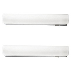 Litecraft - Philips Pack of 2 Vitalise Small Bathroom Wall Light