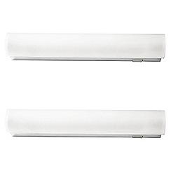 Litecraft - Philips Pack of 2 Vitalise Small Bathroom Wall Light