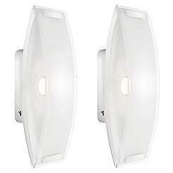 Litecraft - Philips Pack of 2 InStyle Ponte LED Wall Light - White