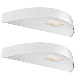 Litecraft - Philips Pack of 2 Avance LED Ledino Curved Wall Light - White