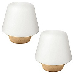 Litecraft - Philips Pack of 2 Ecomoods Table Lamp - Oak