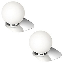 Litecraft - Philips Pack of 2 Ecomoods Globe Table Lamp - Chrome