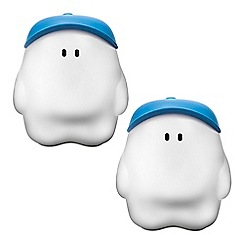 Litecraft - Philips Pack of 2 MyBuddy Children_s Night Light Table Lamp - Blue
