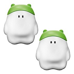 Litecraft - Philips Pack of 2 MyBuddy Children_s Night Light Table Lamp - Green