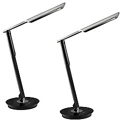 Litecraft - Philips Pack of 2 Eyecare Mallet Table Lamp - Black