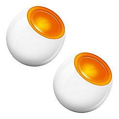 Litecraft - Philips Pack of 2 LivingColors Mini LED Colour Changing Table Lamp - White