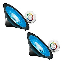 Litecraft - Philips Pack of 2 LivingColors Aura Colour Changing LED Table Lamp - Black