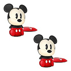 Litecraft - Philips Pack of 2 Disney Children's Mickey Mouse LED Night Light Table Lamp