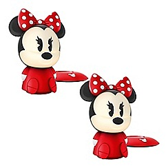 Litecraft - Philips Pack of 2 Disney Children's Minnie Mouse LED Night Light Table Lamp