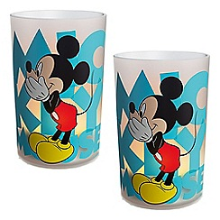 Litecraft - Philips Pack of 2 Disney Children's LED Mickey Mouse Candles Table Lamp