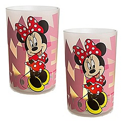 Litecraft - Philips Pack of 2 Disney Kid's LED Minnie Mouse Candles Table Lamp