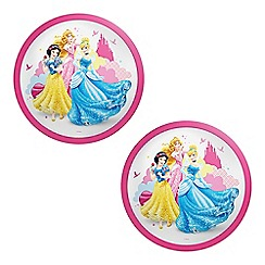Litecraft - Philips Pack of 2 Disney Princess LED Kid's Ceiling or Wall Light