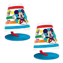 Litecraft - Philips Pack of 2 Disney's Mickey Mouse Children's LED Table Lamp
