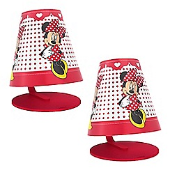 Litecraft - Philips Pack of 2 Disney's Minnie Mouse Kid's LED Table Lamp