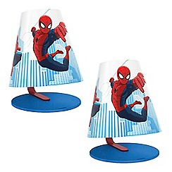 Litecraft - Philips Pack of 2 Spiderman Kid's LED Table Lamp