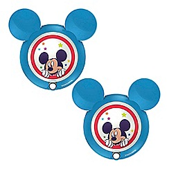 Litecraft - Philips Pack of 2 Disney's Mickey Mouse Children's Wall Night Light with PIR Sensor