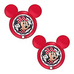 Litecraft - Philips Pack of 2 Disney's Minnie Mouse Children's Wall Night Light with PIR Sensor