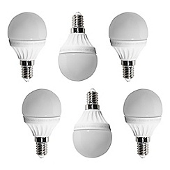 Litecraft - 6 Pack of 3 Watt E14 Small Edison Screw LED Golf Ball Light Bulb - Warm White