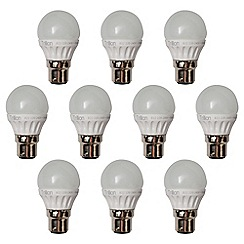 Litecraft - 10 Pack of 3 Watt E14 Small Edison Screw LED Golf Ball Light Bulb - Warm White