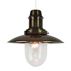 Litecraft - Fisherman Easy to Fit Pendant Ceiling Light 30cm  - Black Antique Brass