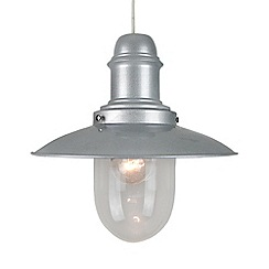 Litecraft - Fisherman Easy to Fit Pendant Ceiling Light 30cm  - Silver