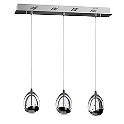 Litecraft - Tegg Pendant Ceiling 3 Light LED Cluster Bar - Chrome