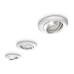 Litecraft - Philips 3 pack of ecohalo recessed downlights in White