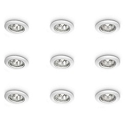 Litecraft - 9 Pack (3 x 3) of EcoHalo Recessed Downlights in White