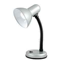 Litecraft - Caher 1 light flexi neck task lamp in Silver